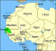 Africa-map-of-Senegal-in-relation-to-other-countries